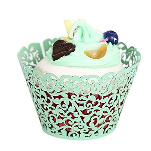 (Cake Decorating Supplies - 10pcs Little Vine Lace Cut Cupcake Wrapper Liner Baking Cup Hollow Paper Cake Diy Fondant - Dust Jacket Housecoat Bar Peignoir Book Neglige Negligee)