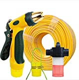 ZLJTYN High Pressure Wash Car Water Gun Household Suit Car Driver Hose Brush Tool Water Pipe Water Grab Nozzle,45 Meters Water Pipe Water Gun Suit Foam Jets