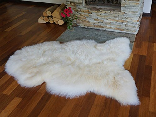Organic Comfort Market Genuine Real Sheepskin Lambskin Dog Bed Mat Area Rug Single Pelt Hide ()