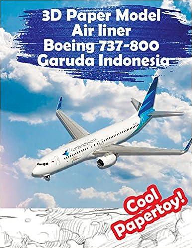 3D Paper Model Air Liner Boeing 737 800 Garuda Indonesia