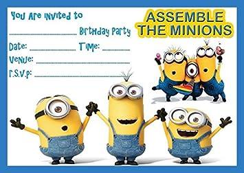Minions Despicable Me Childrens Birthday Party Invites Invitations X
