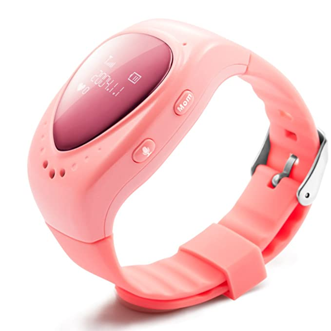 TURNMEON® Smart Watch Reloj Inteligente Para Niños Smart Watch Kids Infantil Pulsera Localizador (GPS, LBS, SOS Llamada SIM Para Android IOS)