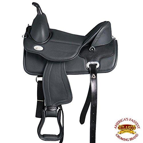 HILASON 16 Western Treeless Horse Saddle Endurance Pleasure Trail Leather (Endurance Horse Saddles)