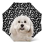 Design Dog Paws Umbrella With Coton de Tulear Dog Pattern Print - Windproof Travel Folding Umbrella Golf Umbrella - Great Dog Mom Gifts