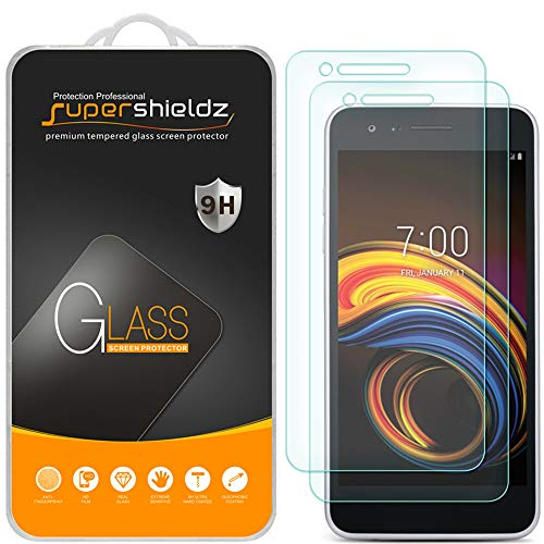 (2 Pack) Supershieldz for LG (Tribute Empire) Tempered Glass Screen Protector, Anti Scratch, Bubble Free (Empire Screen Protector)