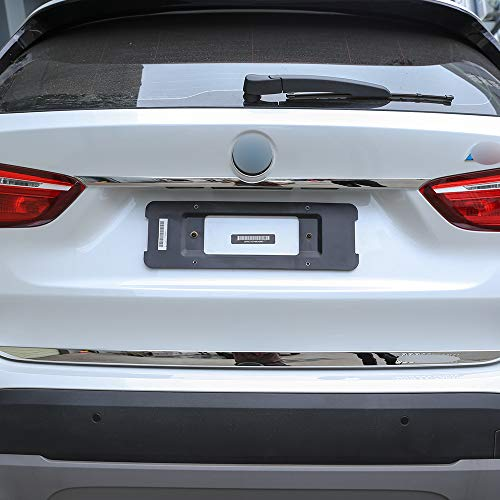 Car Trunk Tailgate Decoration Trim Strip for BMW New X1 2016-2018 Stainless Steel Logo Accessories 1Pc/Set (Bright