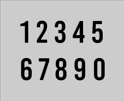 Nummern Aufkleber 4-15cm Sticker Hausnummer Zahl
