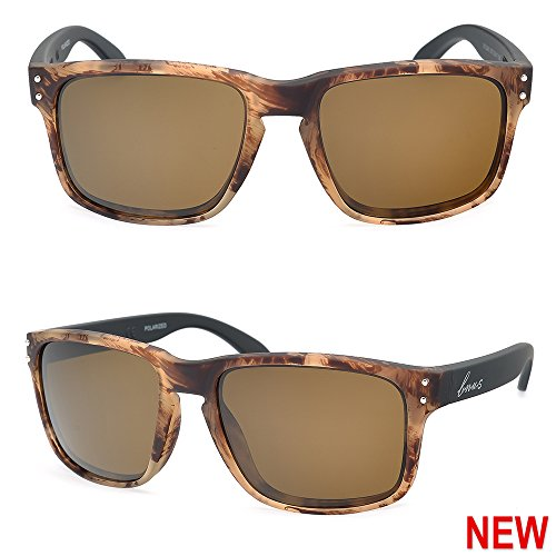 77bcdb9641 Galleon - Bnus Italy Made Sunglasses For Men Corning Real Glass Lens W.  Polarized Option (Frame  Chaparral Lens  Brown B15