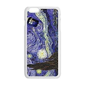 Cool Painting Doctor Starry night painting Who Cell Phone Case for Iphone 6 Plus