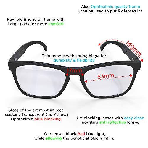 f822032c3c Amazon.com  Computer Glasses Eye Strain Relief- Anti Glare