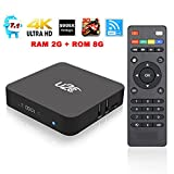 Smart Tv Box,U2C X Pro Android 7.1 OS Tv Box 2G RAM 8G ROM with Amlogic S905X Quad Core 4K 3D Wifi [Pure Version]