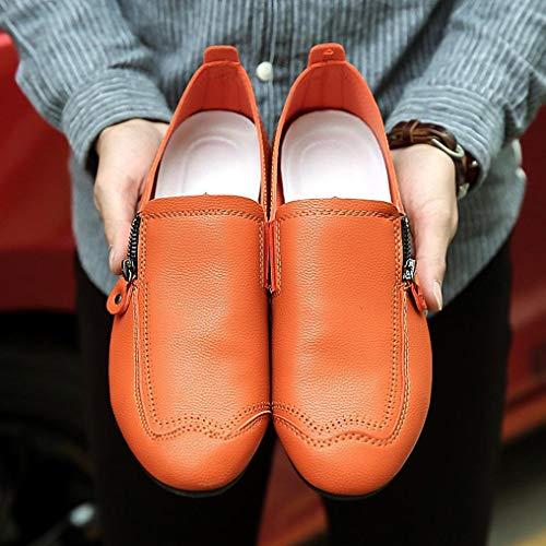 Costume Mocassins overdose Chaussures Plates Enfiler Automne À Mode Homme Large Conduite Soldes Cuir Pointure Workwear Marron Hiver Orange En Casual Twdxqp