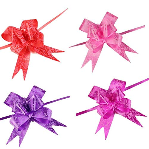 (String Bows,  Basket Pull Bows Basket Knot  for Present Wrapping Present Wrap Floral Wine Bottles Decoration, 40 PCS)