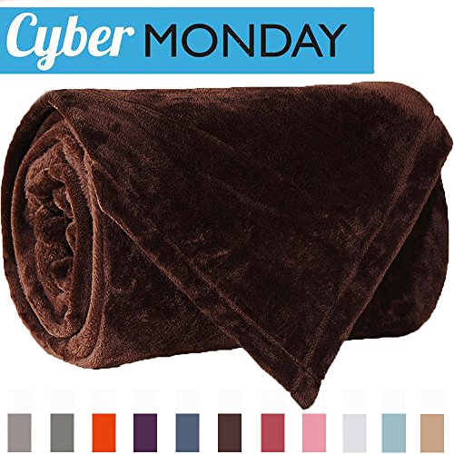 King Size Sofa (Sonoro Kate Fleece Blanket Soft Warm Fuzzy Plush King(104-Inch-by-90-Inch) Lightweight Cozy Bed Couch Blanket,Easy Care, Coffee)