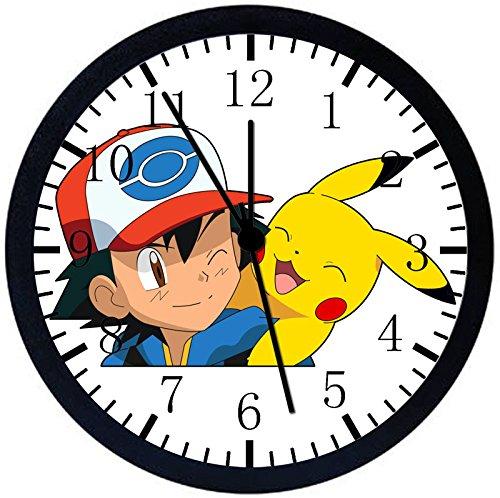 Rusch Inc. Pikachu Ash Black Frame Wall Clock E326 Nice for Gift or Home Office Wall Decor 10