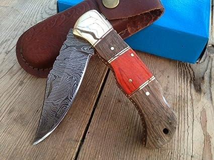 Cuchillo de caza, navaja, cuchillo de damasco, hecho a mano ...