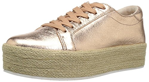 Kenneth Cole New York Women's Allyson Platform Lace up Sneaker with Jute Wrap-Techni-Cole, Rose Gold, 9 M US