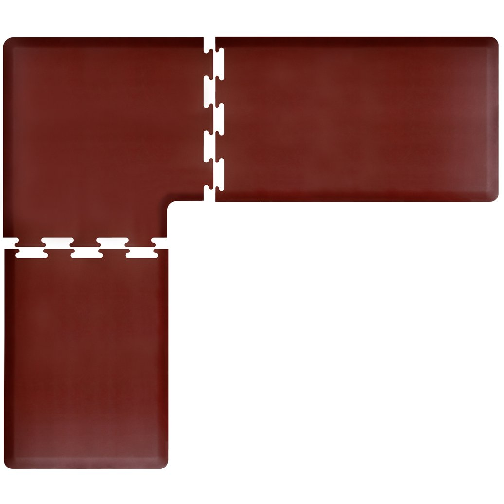 WellnessMats PuzzlePiece Collection L Series Burgundy Anti-Fatigue Mat, 8 x 7 Foot by WellnessMats