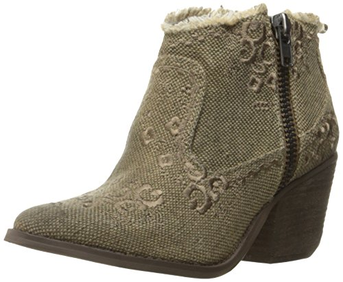 - Naughty Monkey Women's Sewn Up Ankle Bootie, Taupe, 7.5 M US
