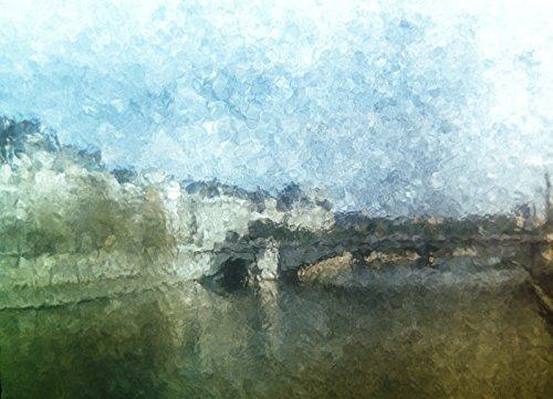 The River Seine Paris France 1973 by