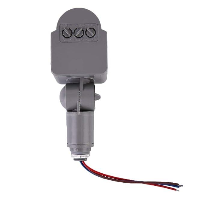 Formulaone Negro y Gris automático 12 M PIR12V / PIR85-265V Seguridad PIR Detector de Sensor de Movimiento infrarrojo Pared LED al Aire Libre RF 140degree: ...
