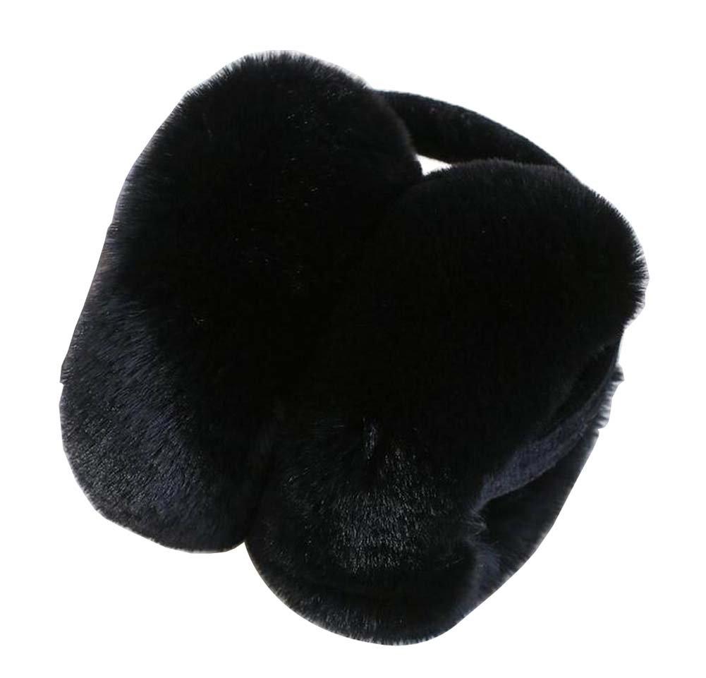 Fashion Earmuffs Winter Ears Warmer Foldable Ears Cover, Black-1 Black Temptation