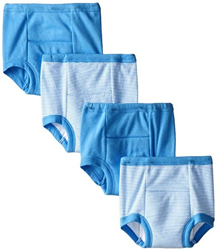 Gerber Toddler Boys' 4 Pack Training Pants, Blue Striped, 2T