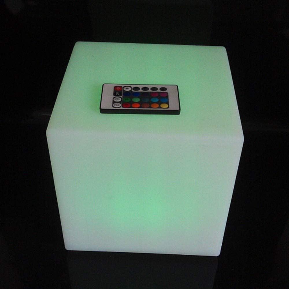 QAZX Se Enciende hogar Interior y Exterior lámpara del Humor Noche romántica iluminación Decorativa IP65 Grado de la protección y la batería Recargable (con 16 Color RGB) (tamaño : 80 x 80 x 80CM)