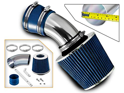 Rtunes Racing Short Ram Air Intake Kit + Filter Combo BLUE Compatible For 98-05 BMW E46 3-Series ...