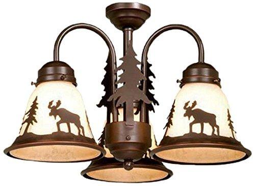 (Vaxcel LK55616BBZ-C Yellowstone 3L Light Kit, Burnished Bronze, Brown by)