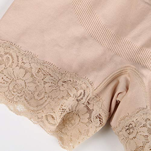 CapsA Shapewear for Women High Waist Tummy Control Panties Seamless Thigh Slimmer Slip Shorts Under Dresses Beige