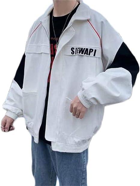 [フ二ンー] ジャケット メンズ 長袖 無地 ウインドブレーカー 秋冬 アウター カジュアル 防風 軽量 大きいサイズ