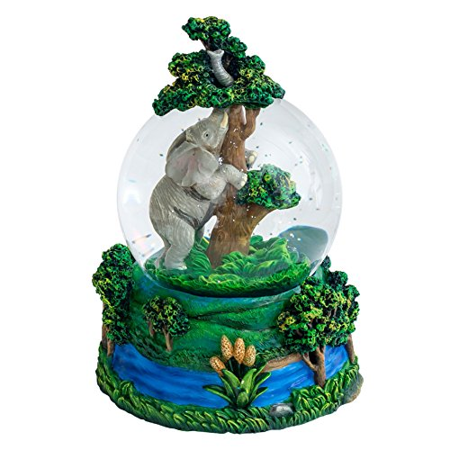 Elephant Tunes (Elephant 100MM Resin Stone 3D Musical Water Globe Plays Tune Big)