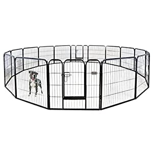 petpremium dog pen metal fence gate portable outdoor rv play yard heavy duty outside pet large playpen exercise indoor puppy kennel cage crate