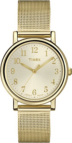 Timex Originals T2P462 Ladies Gold Tone Mesh Watch