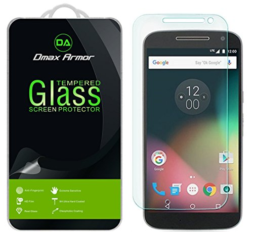 [2-Pack] Dmax Armor for Motorola Moto G4/Moto G (4th Gen) Screen Protector, [Tempered Glass] 0.3mm 9H Hardness, Anti-Scratch, Anti-Fingerprint, Bubble Free, Ultra-clear