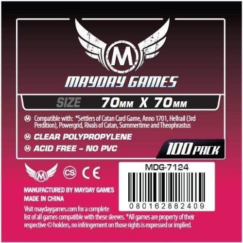 Mayday 70 x 70 mm Board Game Sleeves - Small Square: Amazon.es: Juguetes y juegos