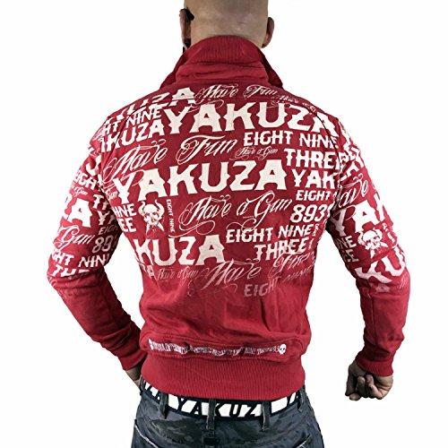 Allover Giacche Stagione Label Yakuza Rosso Uomo Mezza Giacca TXWcwOO15q