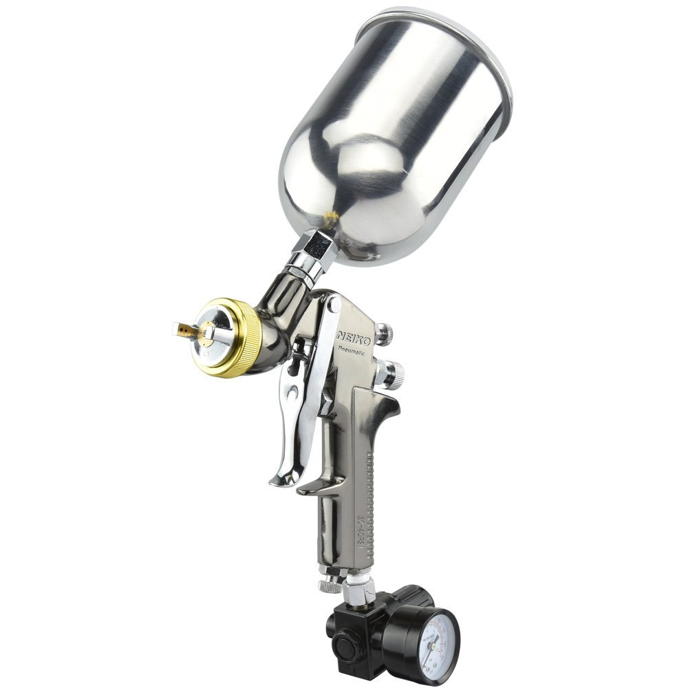 Neiko 31215A HVLP Gravity Feed Air Spray Gun | 1.7mm Nozzle Size | 600cc Aluminum Cup Review