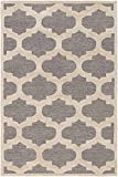 Cheap Super Area Rugs Gray Geometric Trellis Rug Contemporary 9-foot x 13-foot Handmade Wool Carpet