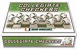 NCAA Miami Hurricanes Miniature Helmets Checker Set