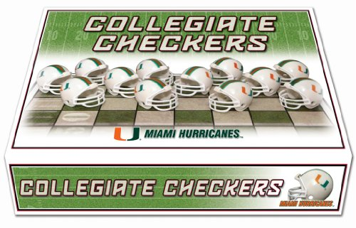 NCAA Miami Hurricanes Miniature Helmets Checker Set ()