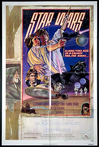 STAR WARS GEORGE LUCAS NSS-ISSUED ORIGINAL STYLE D ONE SHEET 27X41 MOVIE POSTER 1977 NEAR MINT