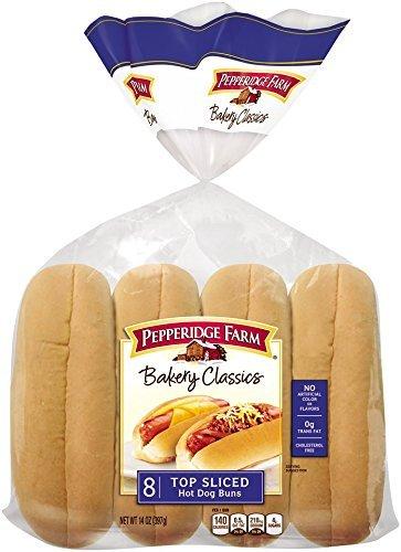 (Pepperidge Farm Sandwich Bakery Classics Top Sliced Hot Dog Buns, 14 oz (4 packs))