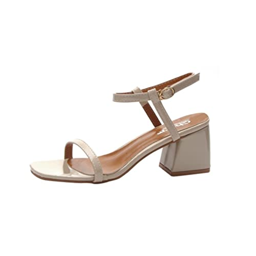 be8937840e2a Women Sandals Rome Slippers High Heeled Sneakers Shoes Squar Heel  Amazon.ca   Clothing   Accessories