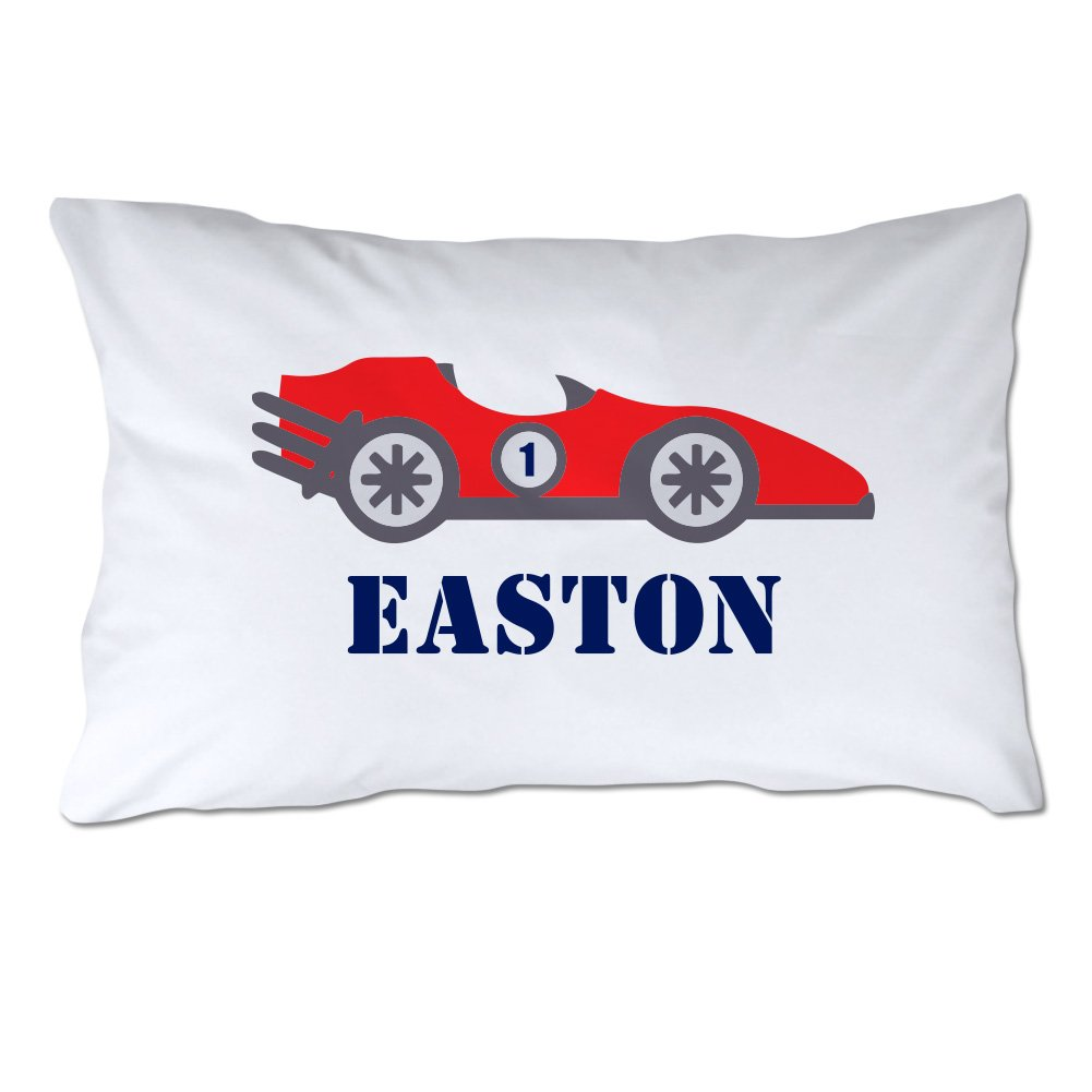 Personalized Toddler Size Race Car Pillowcase with Pillow Included