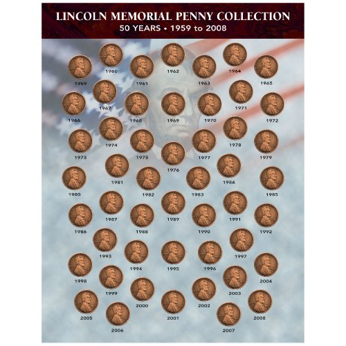 American Coin Treasures American Coin Treasures Lincoln Memorial Penny Collection 1959-2008 Novelty