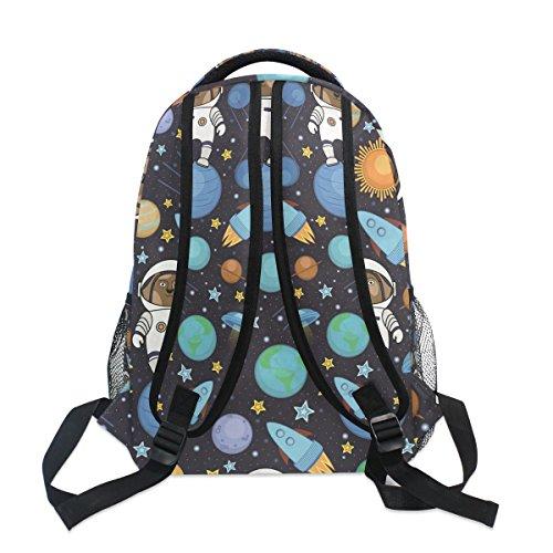 Hiking Bag Satchel Bag Space for Astronaut Girls Star Teenager Women School Book Dog Ahomy for Backpack Men Rocket Boys Travel Backpack qBTwaxp