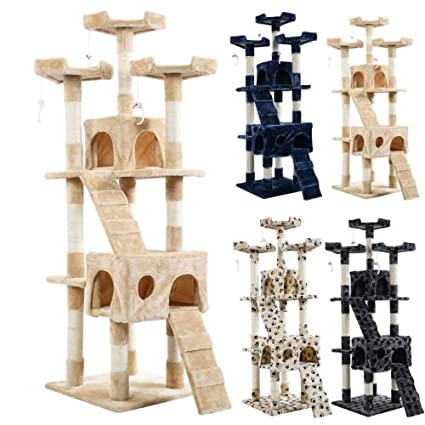 New 66u0026quot; Cat Tree Tower Condo Furniture Scratching Post Pet Kitty Play  House