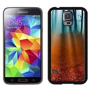 NEW Unique Custom Designed Samsung Galaxy S5 I9600 G900a G900v G900p G900t G900w Phone Case With Light Rays Forest Floor_Black Phone Case wangjiang maoyi